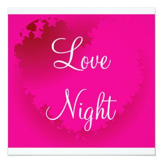 Love hearts 13 cm x 13 cm square invitation card