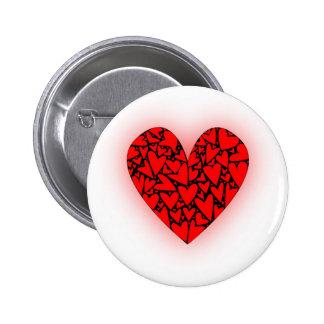 Love Hearts 6 Cm Round Badge