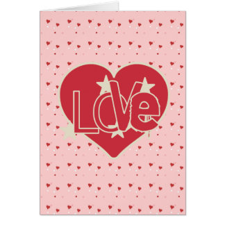 Love Hearts and Stars Valentine's Card