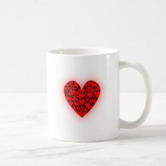 Love Hearts Basic White Mug