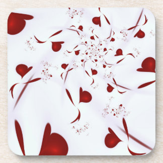Love Hearts Beverage Coasters