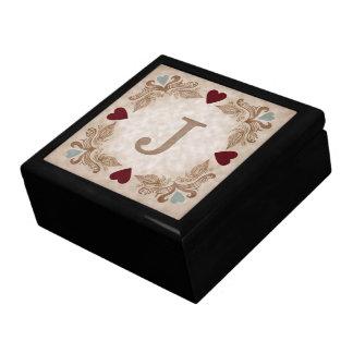 Love & Hearts Custom Initial Jewelry Box