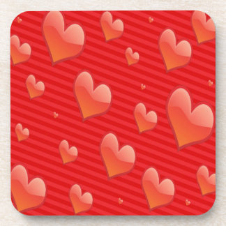 """Love Hearts"" Drink Coasters"