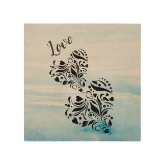 Love & Hearts Elegant  Design Wood Wall Art