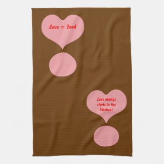 Love Hearts Exclamation MarkAmerican MoJo Kitchen  Towels