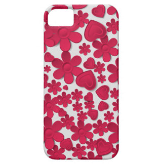 Love Hearts Flowers Rain Wedding iPhone 5 Covers