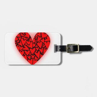 Love Hearts Luggage Tag