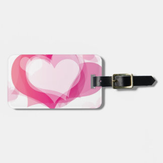 love hearts luggage tag