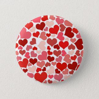 Love Hearts Pattern Valentine's Day 6 Cm Round Badge
