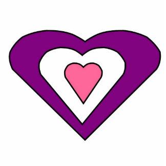 Love Hearts Photo Sculpture Key Ring