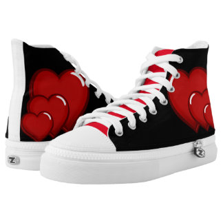 Love  & Hearts Printed Shoes