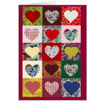 Love Hearts Quilt Greeting Cards