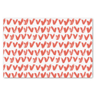 Love Hearts Red and white Pattern Tissue Paper