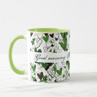 Love Hearts Romantic Good Morning Personalized Mug