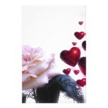 Love Hearts Roses Blossom Flower Destiny Nature Customized Stationery