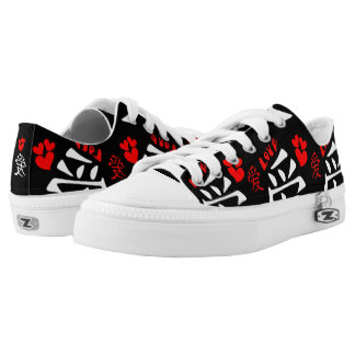 Love/Hearts/Sign (Japanese Calligraphy) Low Tops