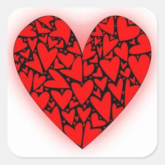 Love Hearts Square Sticker