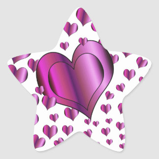 Love Hearts Star Sticker