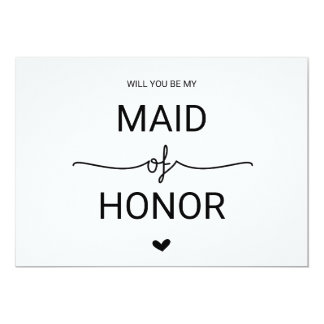 Love Hearts Will You Be My Maid of Honor Card