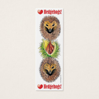LOVE Hedgehogs! Bookmark Mini Business Card