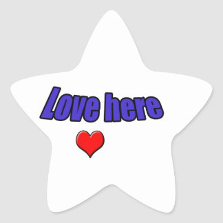 Love here star sticker