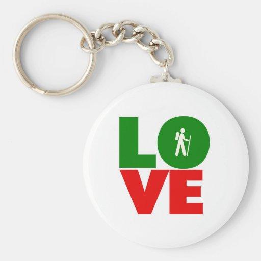 Love Hiking Keychains