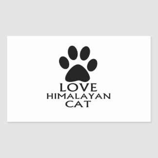 LOVE HIMALAYAN CAT DESIGNS RECTANGULAR STICKER