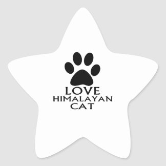 LOVE HIMALAYAN CAT DESIGNS STAR STICKER