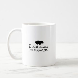 Love Hippos Funny Hippopotamus Loverss Fiona Baby Coffee Mug