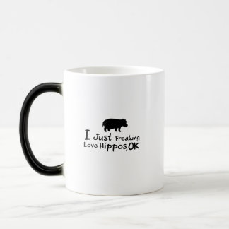 Love Hippos Funny Hippopotamus Loverss Fiona Baby Magic Mug