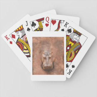 Love Hippos Funny Hippopotamus Loverss Fiona Baby Playing Cards