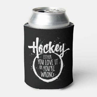 Love Hockey Can Cooler
