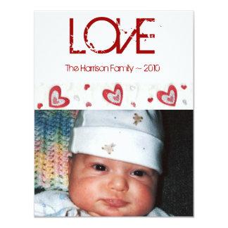 LOVE Holiday Photo Card 11 Cm X 14 Cm Invitation Card