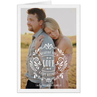 Love | Holiday Photo Greeting Card