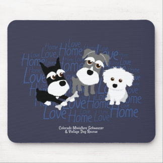Love, Home - Schnauzer Mouse Pad
