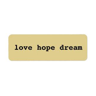 Love, hope, dream sticker DIY mixed media craft