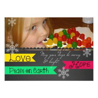 Love Hope Peace on Earth Holiday Photo Card
