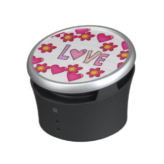 love,hot pink bluetooth speaker
