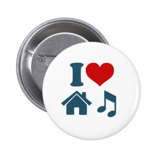 Love House Music 6 Cm Round Badge