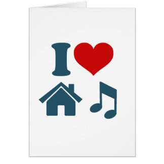 Love House Music Greeting Card