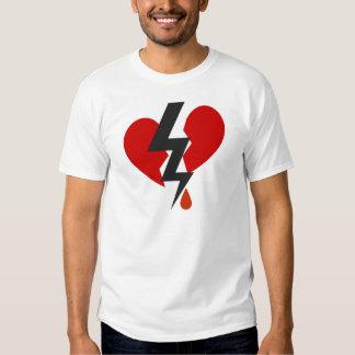 LOVE HURTS GRAPHIC HEART PRINT TSHIRT