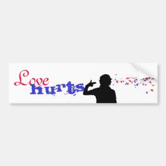 Love hurts. Love Kills. Bumper Sticker