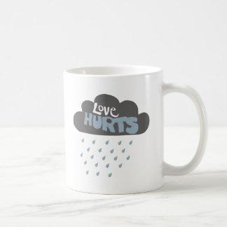 Love Hurts Raincloud Coffee Mugs
