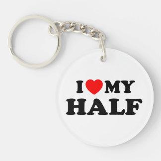 Love I heart My Half Key Chain