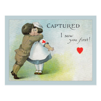 Love I Saw you First Postcard