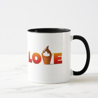 Love Ice Cream Coffe Mug
