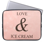 Love & ice cream laptop sleeve