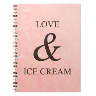 Love & ice cream spiral notebooks
