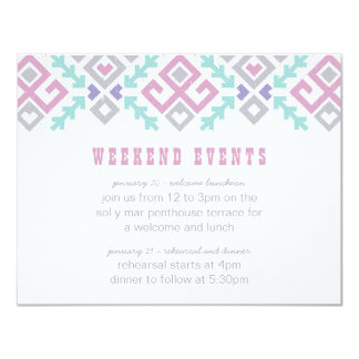 Love Ikat Destination Wedding Extra Info Card