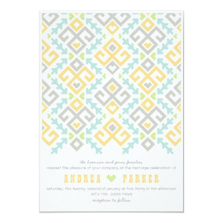 Love Ikat Destination Wedding Invitation